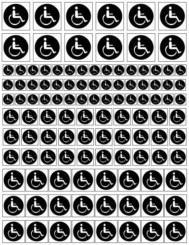 Sandblasting Templates Handicapped Blasting Stencils as Handicapped