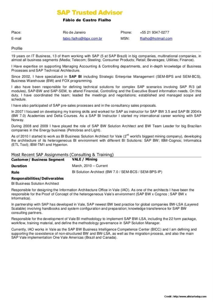 sap fico fresher resume sample  williamsonga