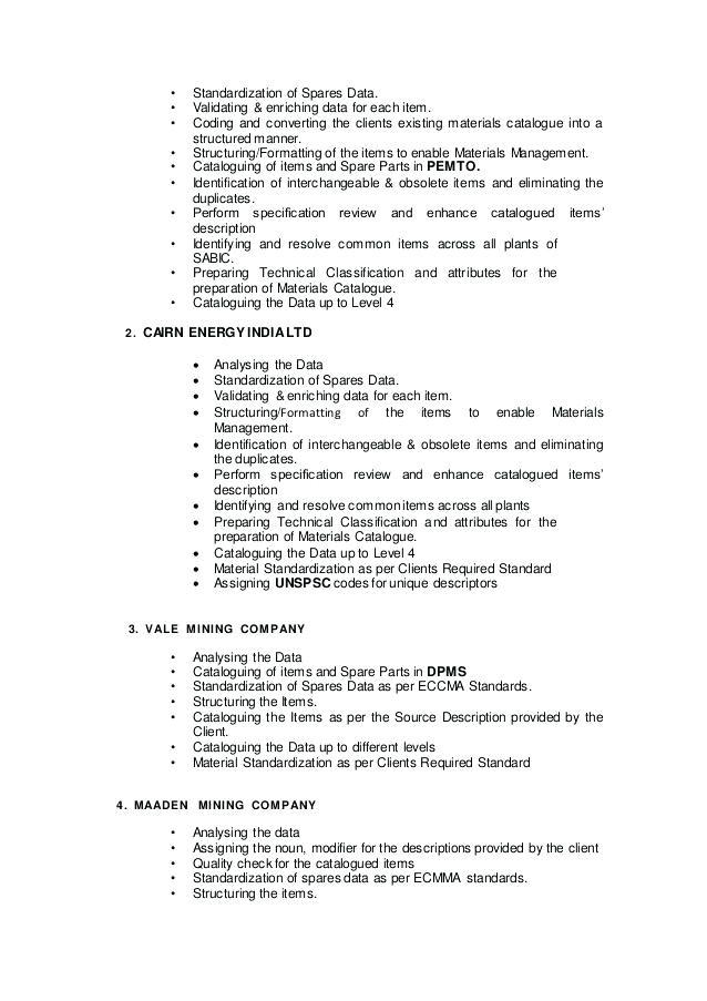 mdm resume