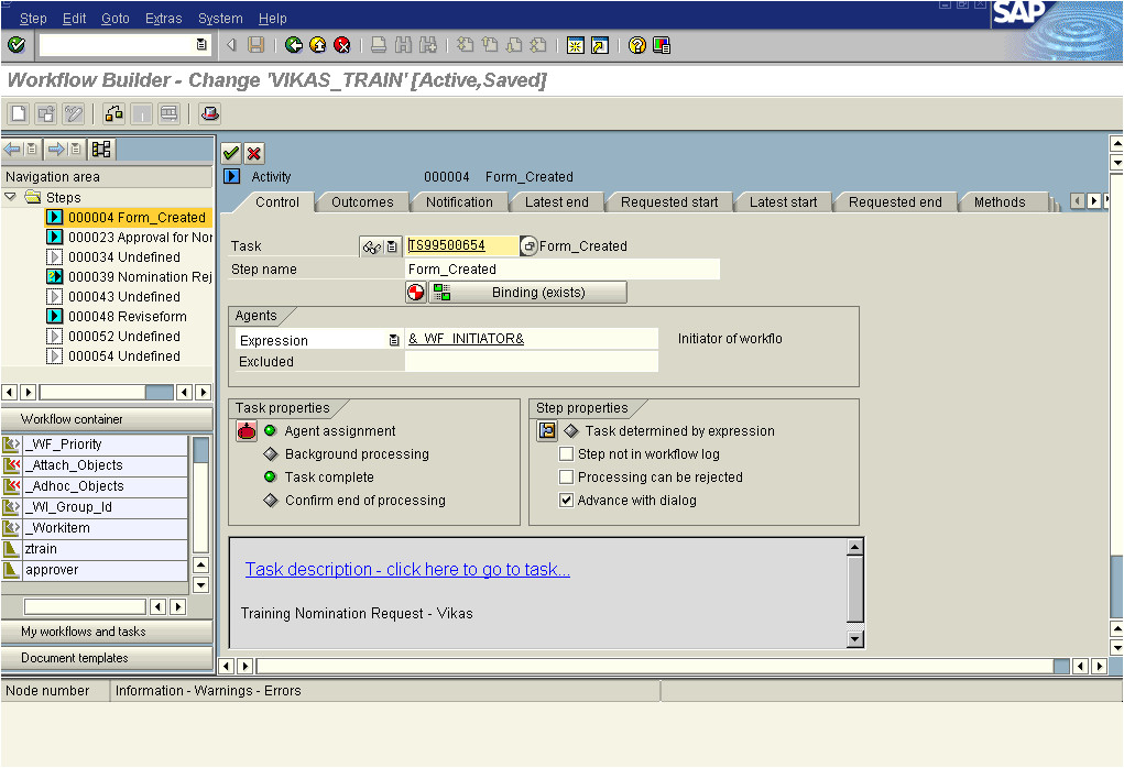 sap workflow my first workflow