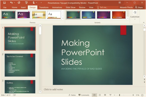 change templates powerpoint