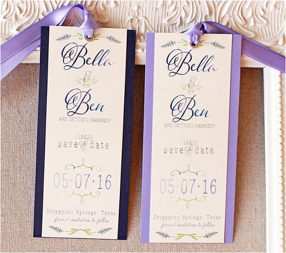 sample save the date bookmark