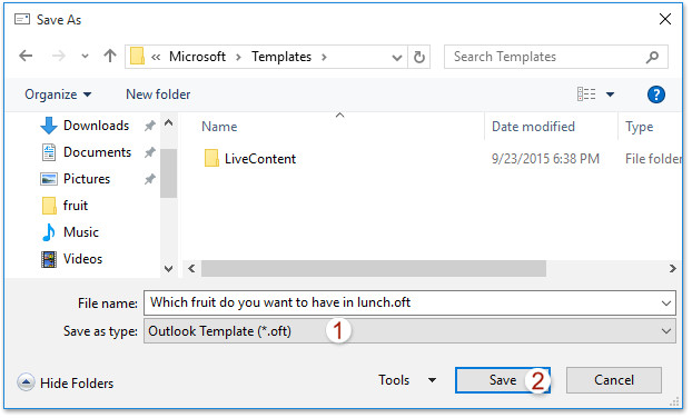 4577 outlook save custom voting buttons