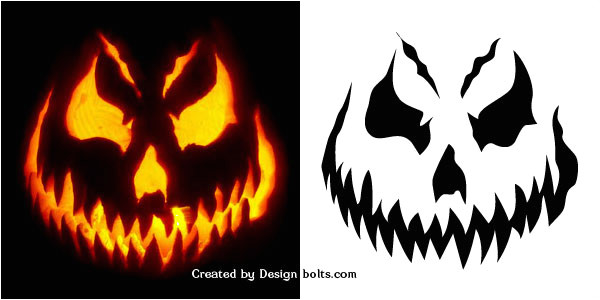 Scary Jack O Lantern Face Template 10 Free Halloween Scary Pumpkin Carving Stencils Patterns