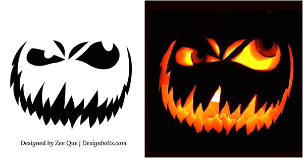 free scary halloween pumpkin carving patterns stencils ideas 2014
