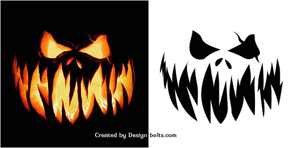 10 free scary halloween pumpkin carving patterns stencils printable templates 2016