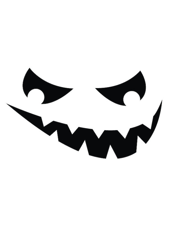 Scary Jack O Lantern Face Template Pumpkin Carving Templates Galore for Your Best Jack O