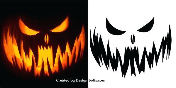 Scary Jack O Lantern Face Template Simple Scary Pumpkin Faces Pumpkin Faces Ideas Scary