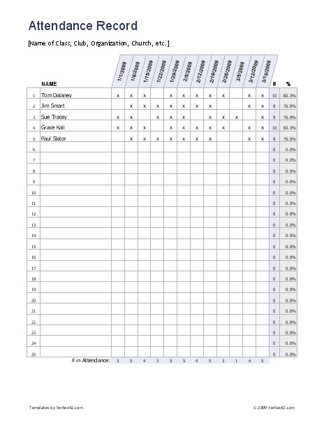 School Register Template Spreadsheet Free Excel attendance Record attendance Sheet It is Easy