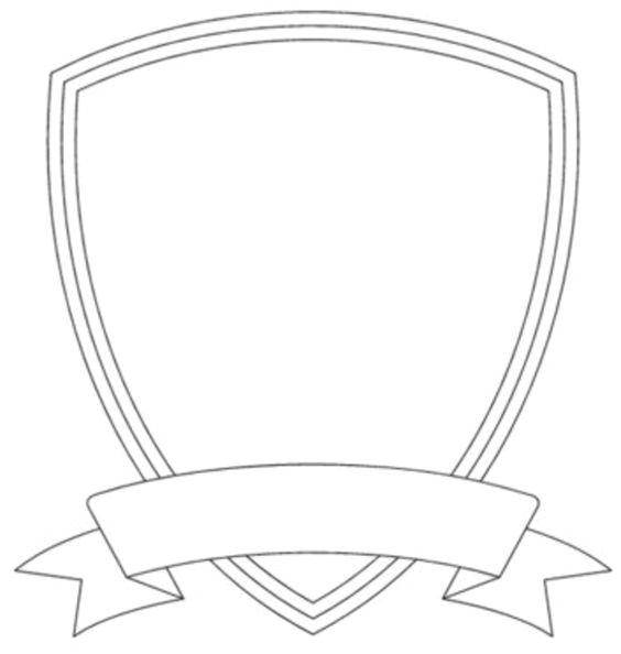 School Shield Template Badge Outline Shield Template Image Vector Clip Art