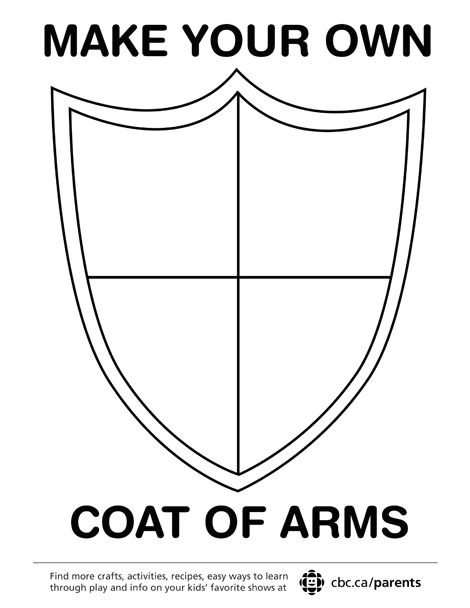 School Shield Template Make Your Own Coat Of Arms Printables Coat Of Arms