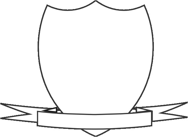 clipart shield ribbon