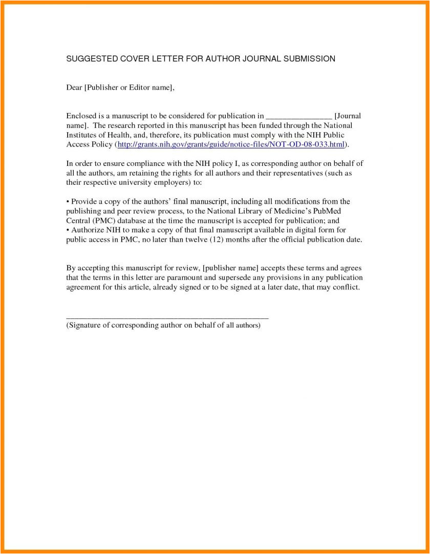cover letter for journal submission example publication latex tem