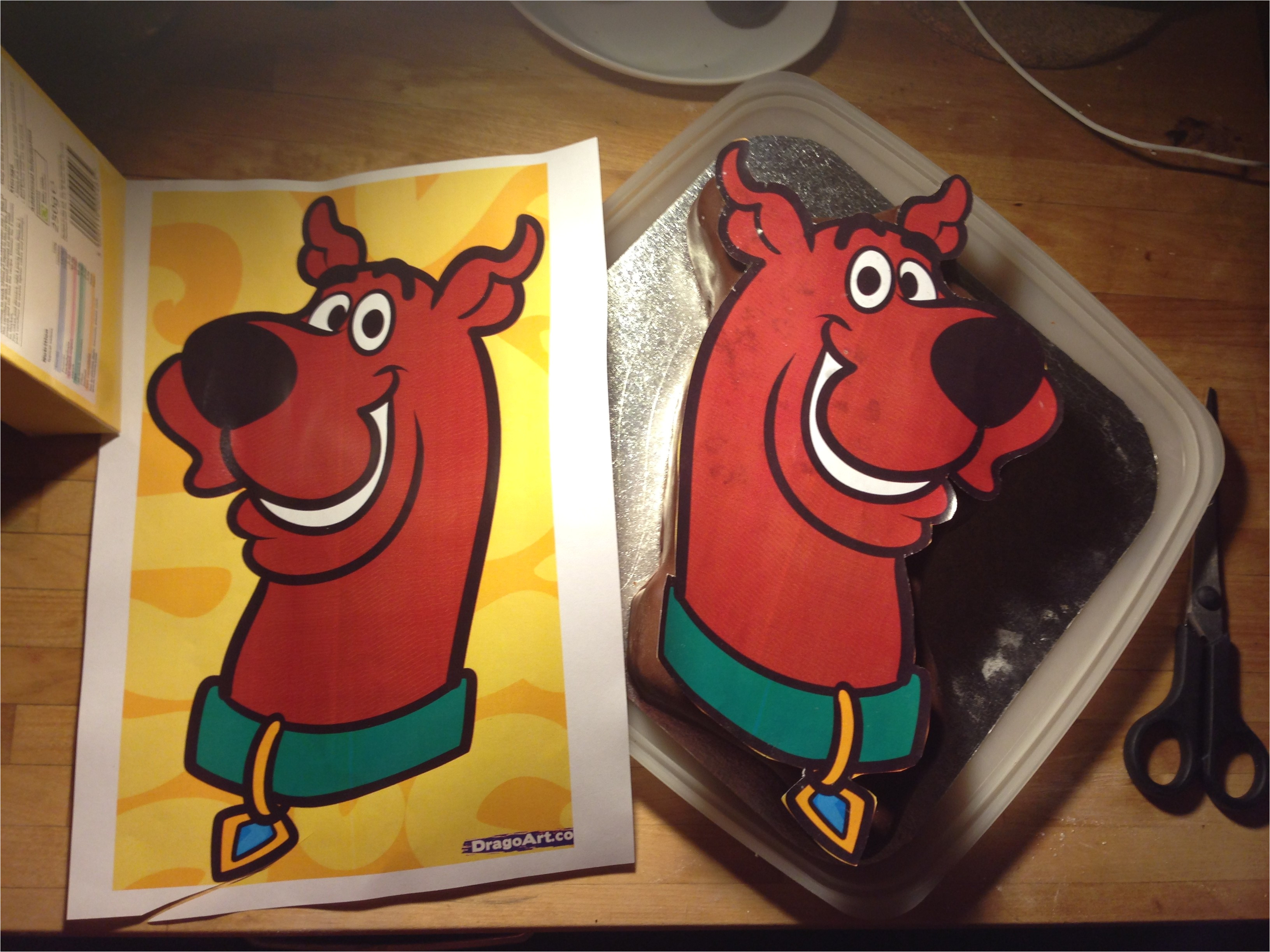 Scooby Doo Cake Template Scooby Doo Chocolate Birthday Cake Bakearama