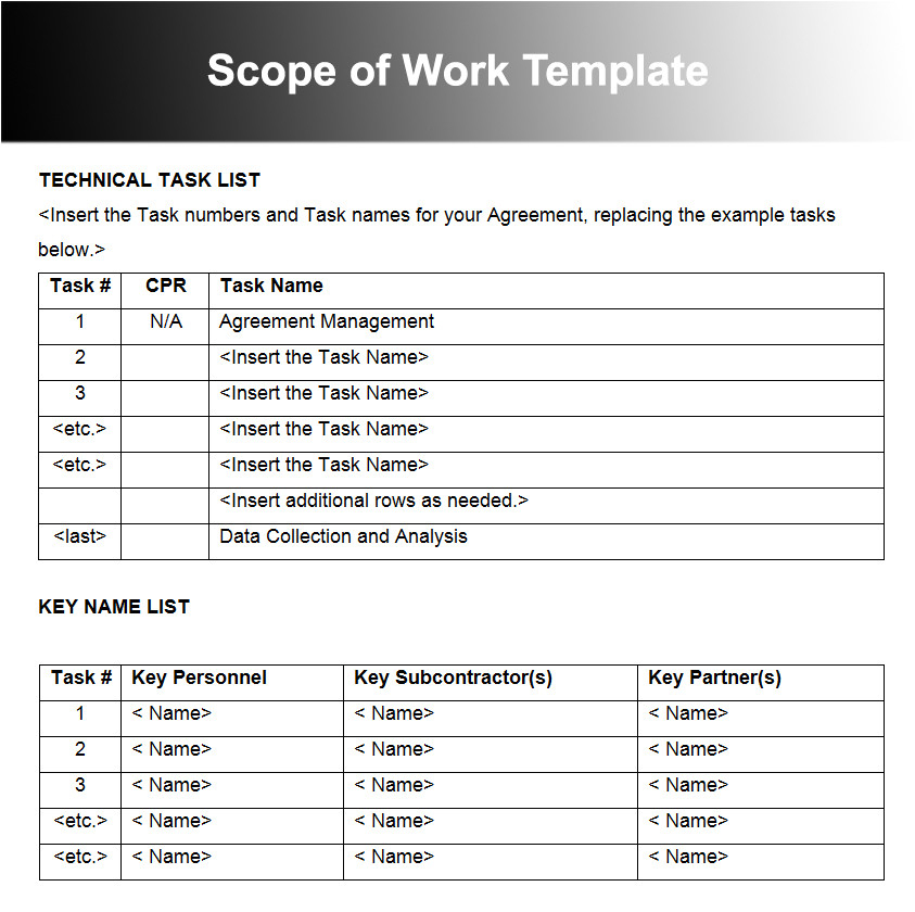 Scope Of Works Template Free 10 Scope Of Work Templates Free Word Pdf Excel Doc formats