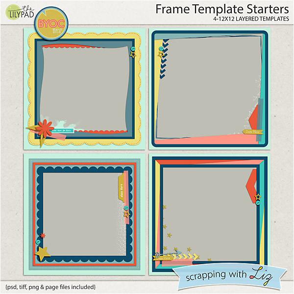 frame digital scrapbook template starters