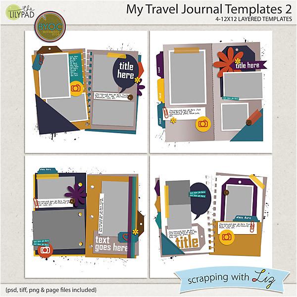my travel journal 2 digital scrapbook templates