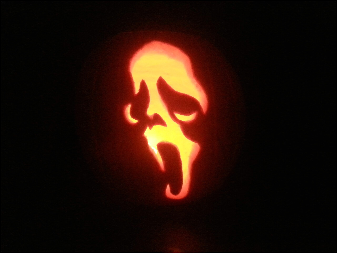 Scream Pumpkin Template Ghostface Scream Pumpkin Carving by Pr0genit0r On