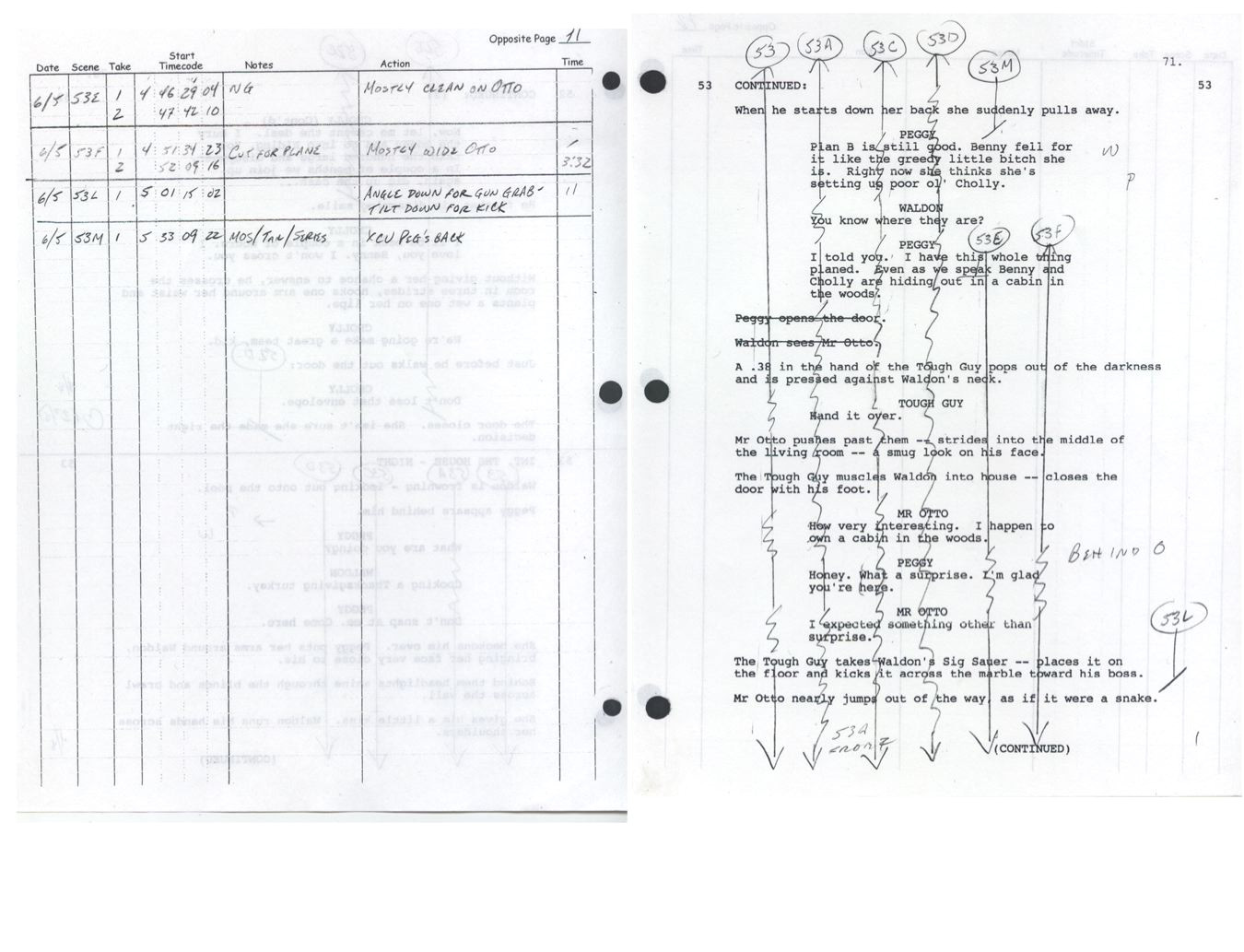 script supervisor notes template