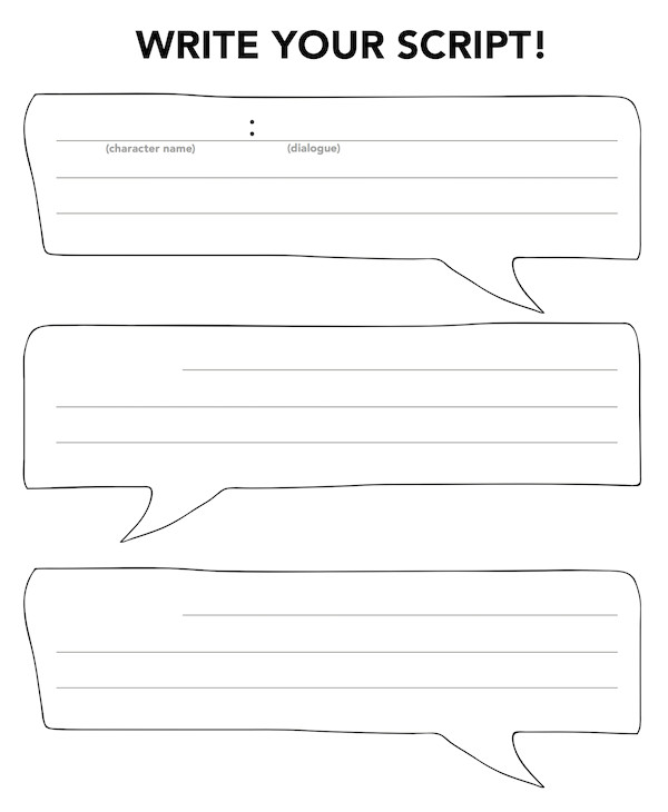 Script Writing Template for Kids Family Activities 2015 16 Newvictory org