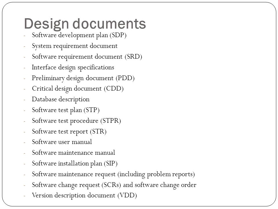 software design document template word