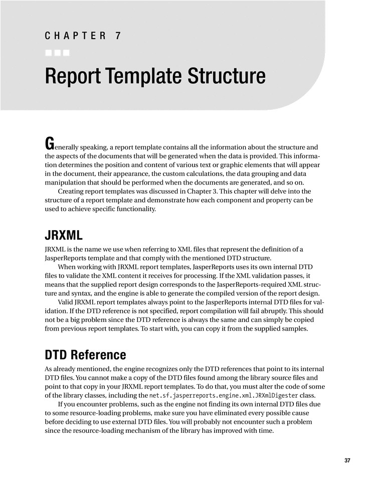 report structure template