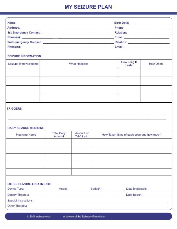 seizure information forms