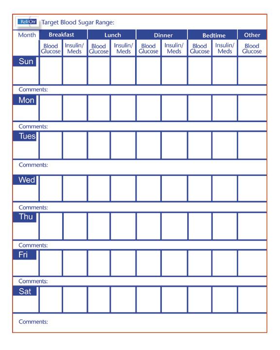 seizure diary template