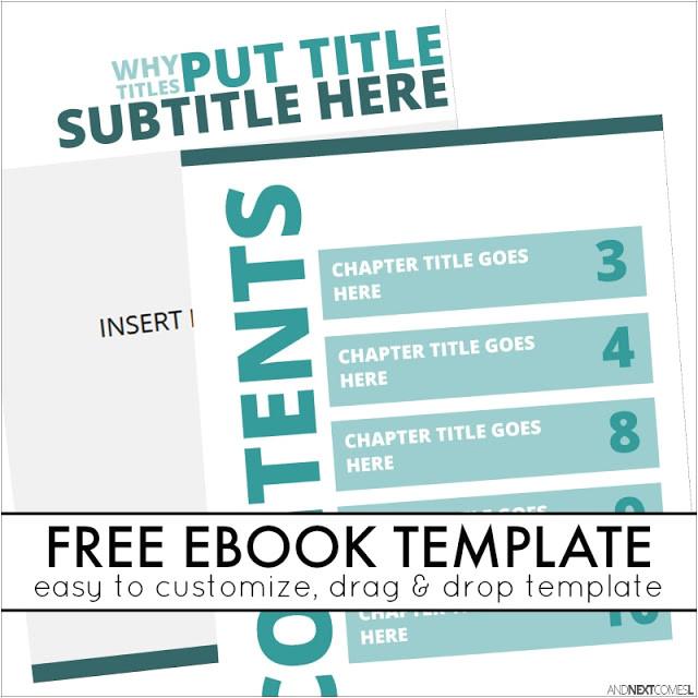 book templates