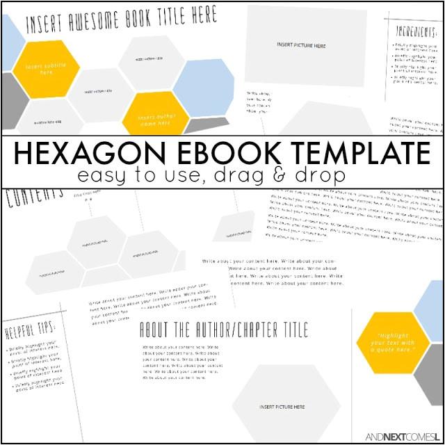 hexagon ebook template