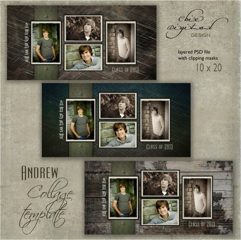 10 x 20 senior collage template andrew