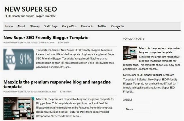 new super seo friendly blogger template