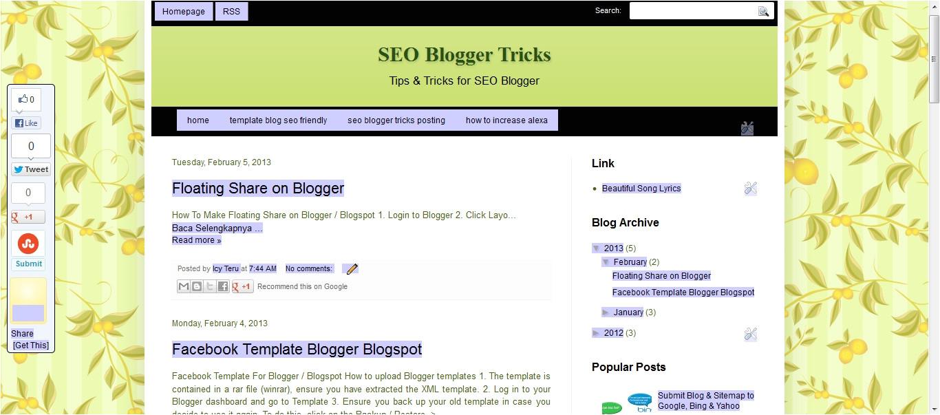 template blog seo friendly