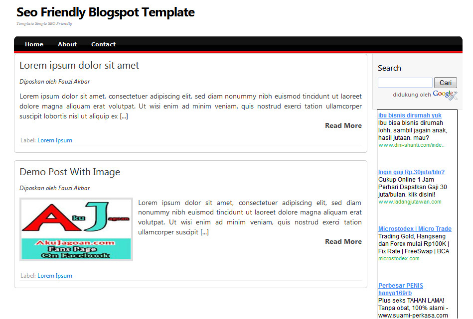 Seo Friendly HTML Template Template Blogspot Seo Friendly Template Blogger