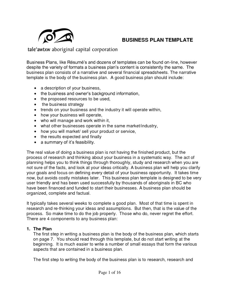 business plan sample templates