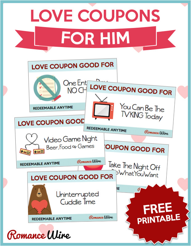 Sex Coupon Template Love Coupons for Him Free Printable Romancewire