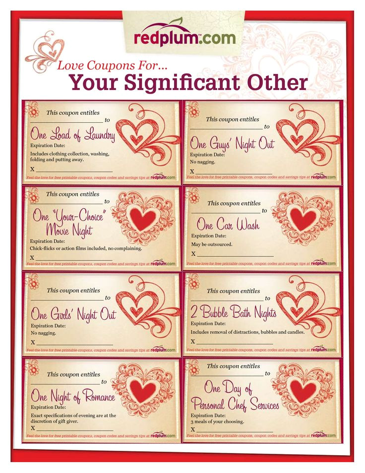 Sex Coupon Template Romantic Love Coupon Template Printable Love Coupons for