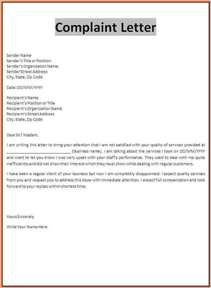 sample workplace harassment complaint letter