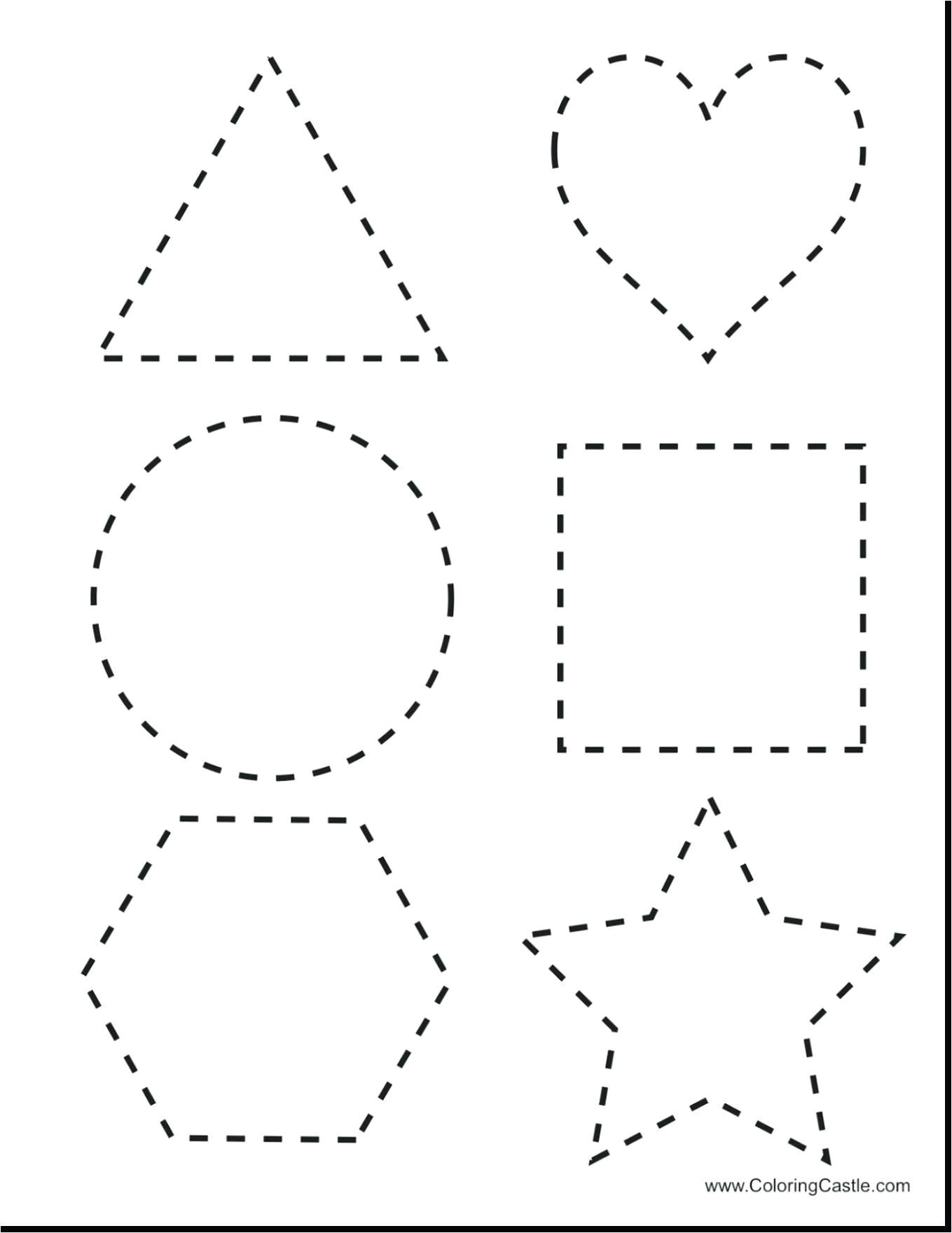 printable shape tracing sheets