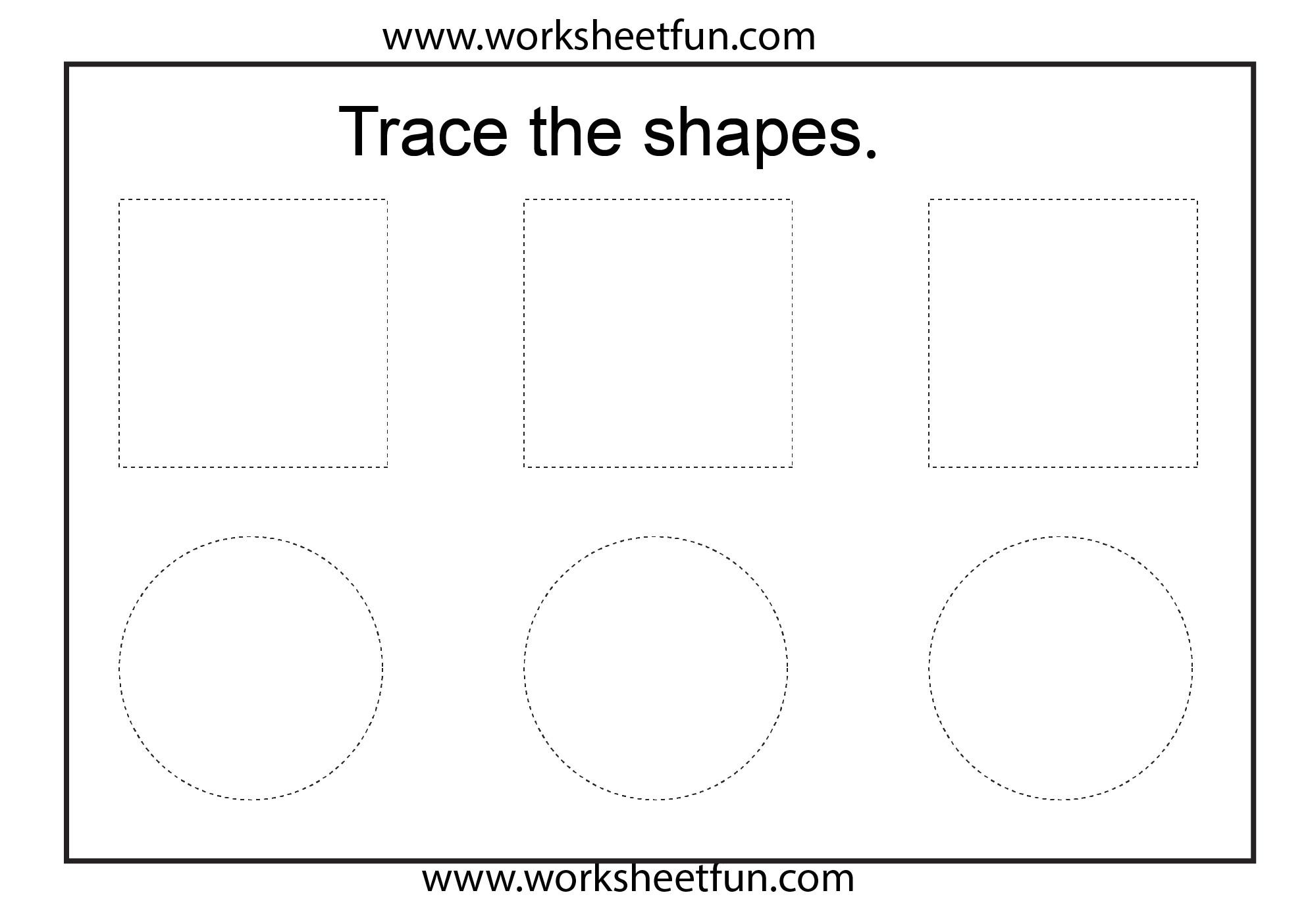 shape tracing 1 worksheet 5
