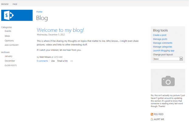 Sharepoint 2013 Blog Template Understanding Sharepoint 2013 Blog Site Templates