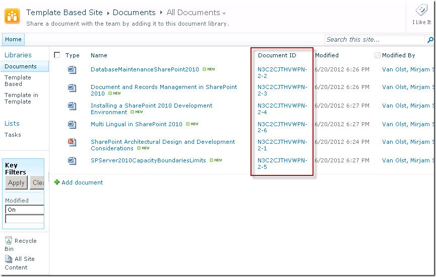 Sharepoint 2013 Document Library Template Save Site as Template and Document Ids