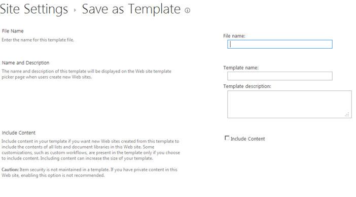 Sharepoint 2013 Save Site as Template Saving Publishing Site as A Template In Sharepoint 2013