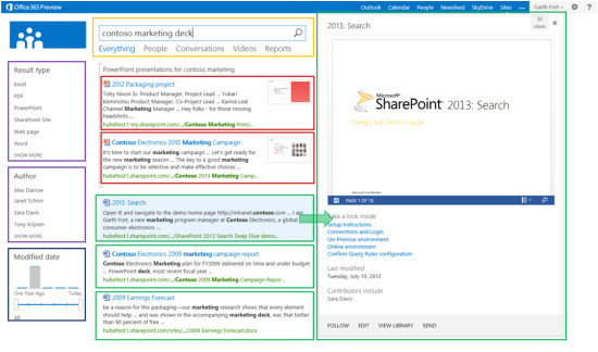 introducing sharepoint 2013 search result types and display templates