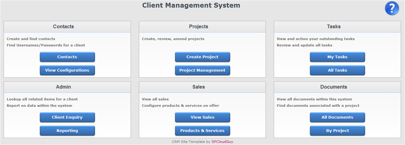 crm site template