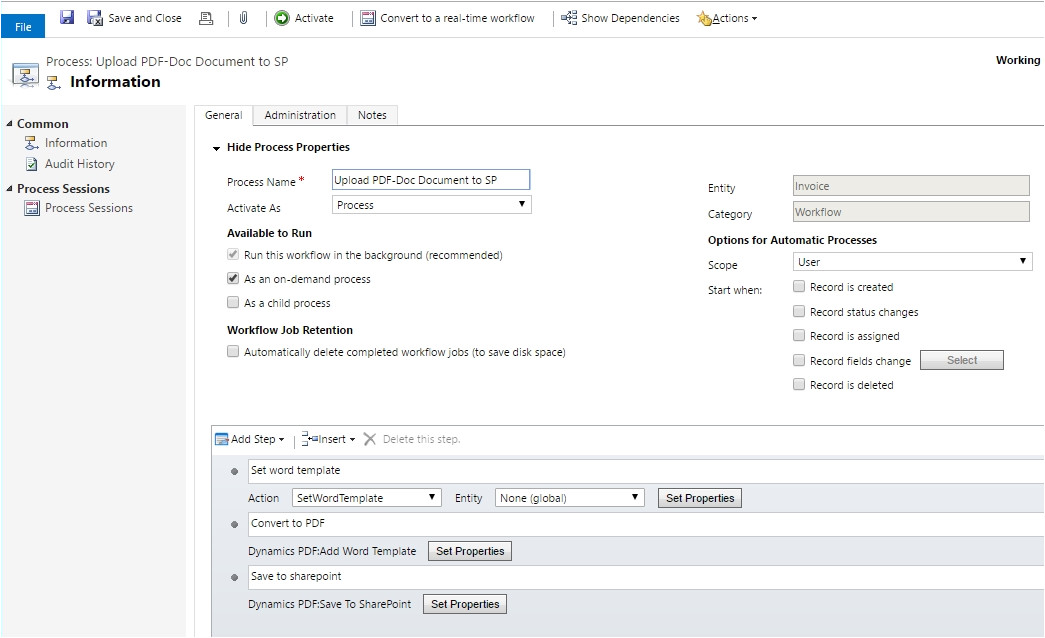 upload crm word templates sharepoint attach email