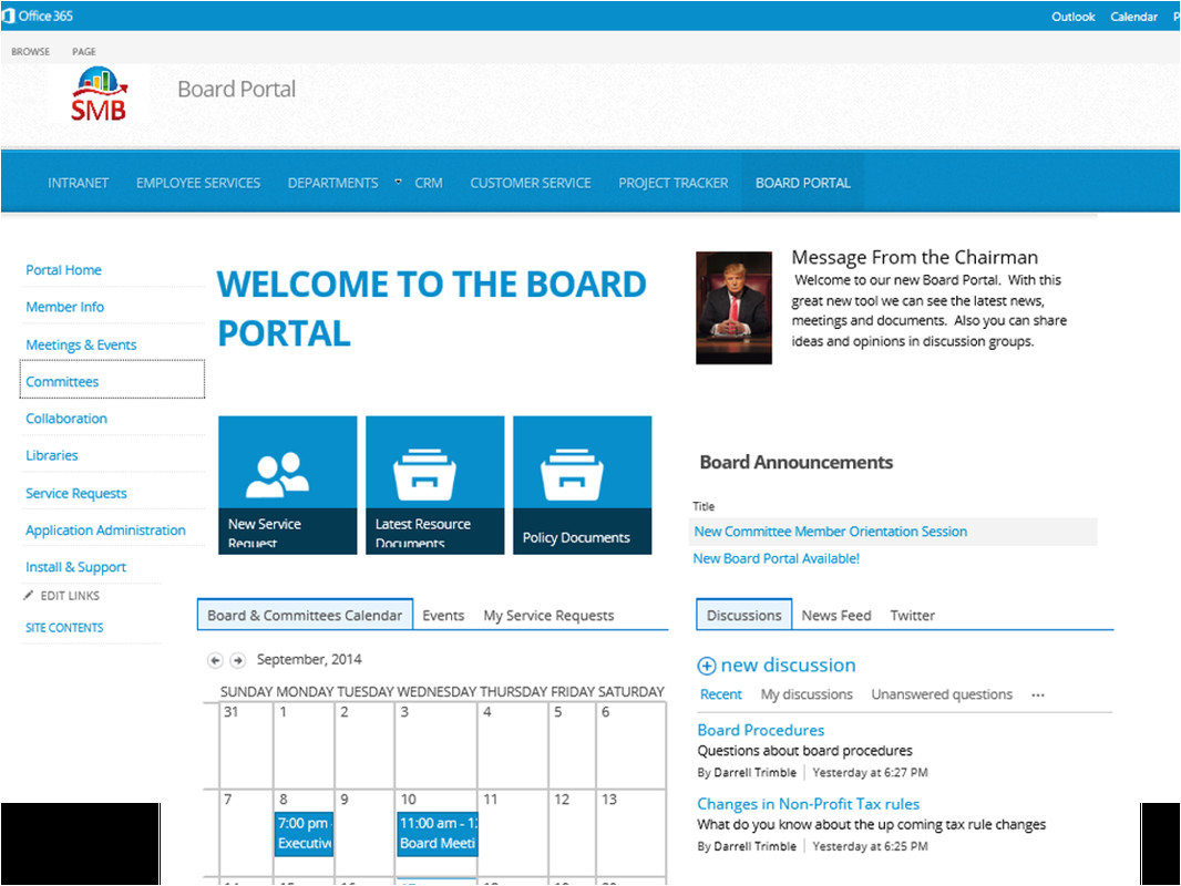 sharepoint board portal