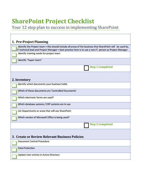 project list template