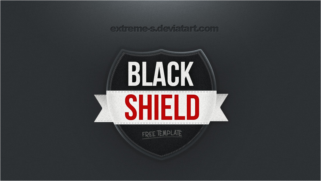 black shield logo template psd 338640615
