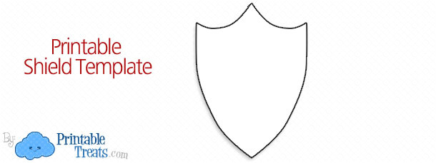 free printable shield template